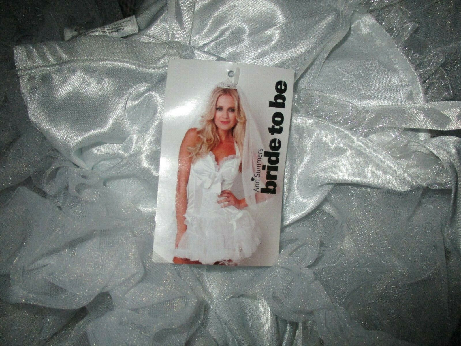 ANN SUMMERS BRIDE TO BE FANCY DRESS COSTUME SIZE 16 NWT