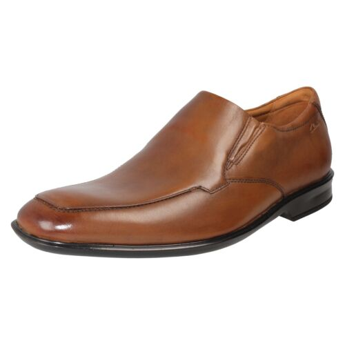 Homme Clarks Cuir Travail Robe Formelle à Enfiler Chaussures Mocassin Taille Bensley étape
