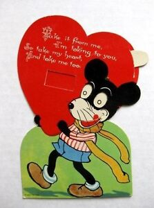 image is loading 1920s mechanical valentines days card w mickey mouse - Mickey Mouse Valentines