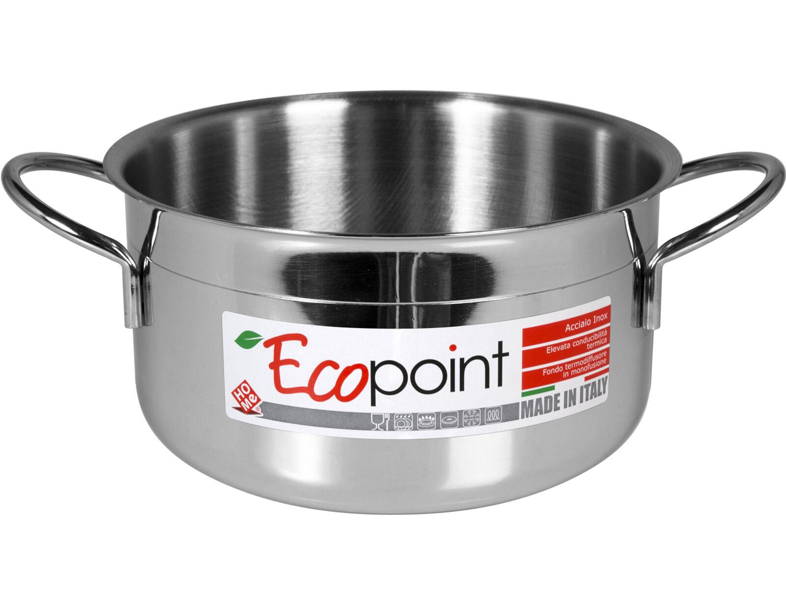 HOME Casseruola Inox Ecopoint Due Manici Cm 34 pentola da cucina