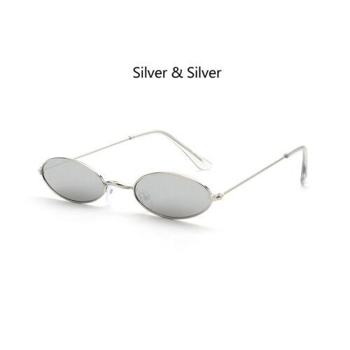Retro Small Oval Sunglasses Vintage Shades Sun Glasses Men Women Eyeglasses