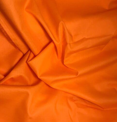 PUMPKIN ORANGE Cotton LAWN VOILE Fabric 1//3 yd remnant