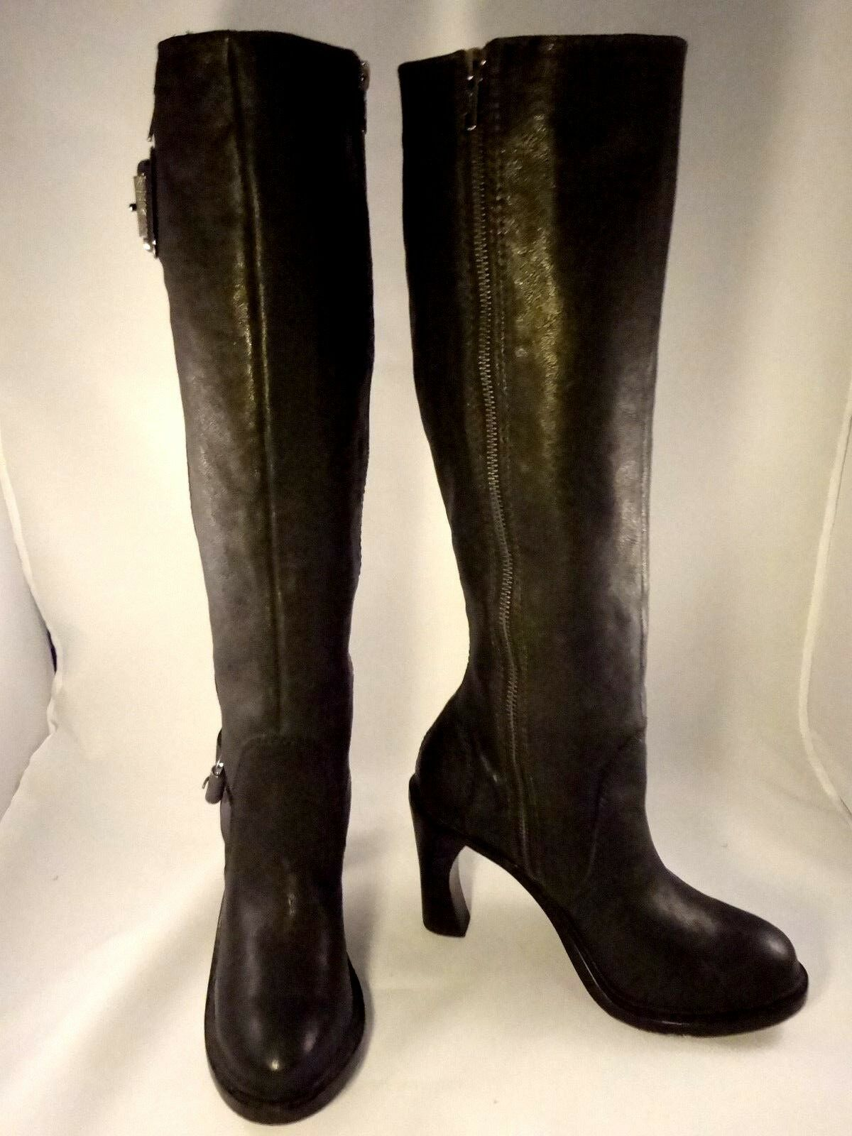 MINT VERA WANG LAVENDER WOMEN SEXY Stiefel SIZE 6 M SEXY WOMEN KNEE HIGH BLACK LEATHER a3384e