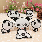 6pcs Panda Embroidery Sew Iron On Patch Badge Bag Clothes Fabric Applique DIY