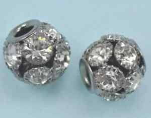 5-X-13mm-Cristal-Engarzado-Transparente-Gris-Negro-Bronce-Chapado-Dije-Pulsera