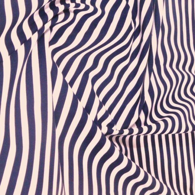 "100% Cotton Poplin Dress Fabric Material - 8mm Stripes -15 Colours - 44"" (112cm)"
