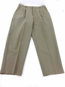 BRIGGS-NY-WOMENS-KHAKI-STRETCH-POLYESTER-DRESS-PANTS-SIZE-16
