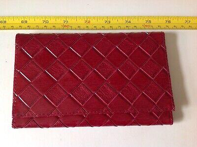 Elegante Rosso Bordeaux Estee Lauder Specchio Id Portafoglio Carta Custodia Portafoglio Soldi?-mostra Il Titolo Originale
