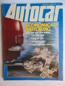 AUTOCAR MAGAZINE August 4 1979 Economical Motoring