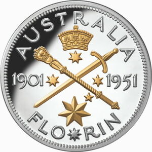 Niue-2021-Federation-Florin-70th-1951-10-5-Oz-Pure-Silver-Gilded-Proof-in-OGP