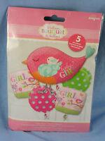 Tweet Baby Girl Balloon Bouquet (five Mylar Balloons) Nip