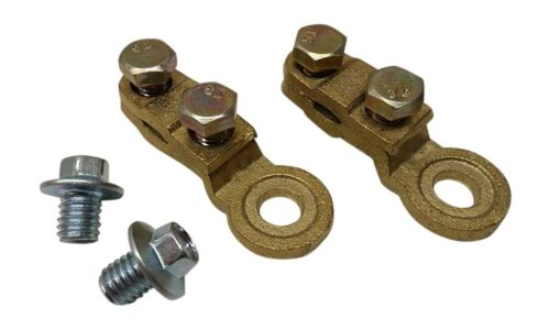 2X Side Post Battery Terminal KIT Terminals with 2 screws bolts
