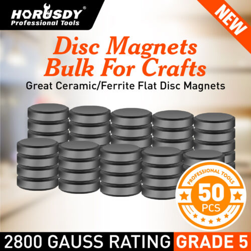 50Pc Super Strong Disc Magnets Round Flat Magnetic RareEarth 18mm Home Office