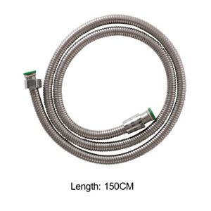 Shower-Hose-Stainless-Steel-Handheld-Bathroom-Water-Head-Pipe-Tube-Length-1-5M