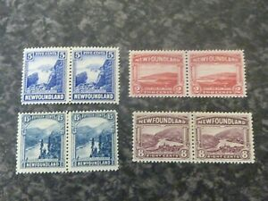 NEWFOUNDLAND-POSTAGE-STAMPS-SG150-153-155-160-PAIRS-VLMM