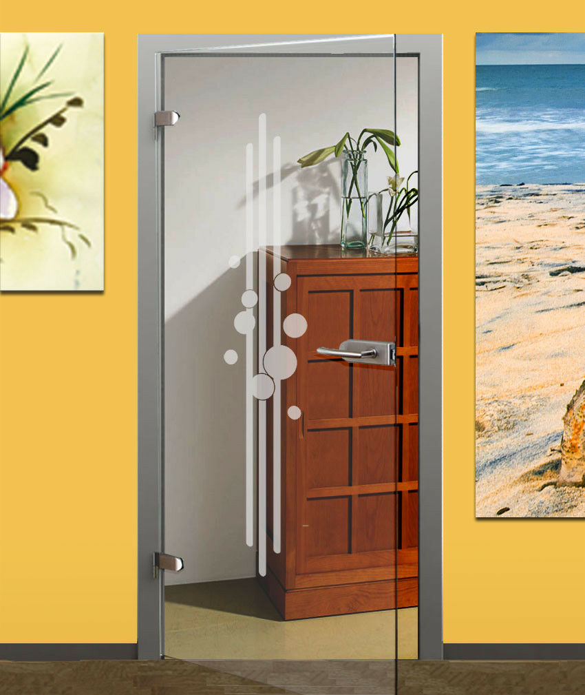 Aluminium pour porte en verre ou bois porte en en en verre décor film porte en verre Film Saladier b679e8