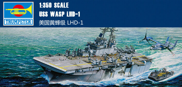 USS WASP LHD-1 1 350 ship Trumpeter model kit 05611
