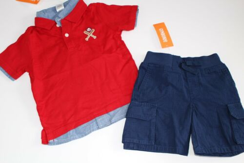 Gymboree Home Run Kid Boys Navy Shorts Baseball Shirt Top Set Size 3T NEW NWT
