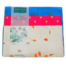 Commercio equo carta Lokta tre fogli regalo Wrap Pack gwp13