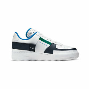 Nike-Men-039-s-Air-Force-1-Type-Low-Green-Blue-White-Basketball-Shoes-CQ2344-100-NEW