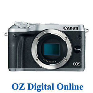 New-Canon-EOS-M6-Body-Silver-Mirrorless-24-2MP-WiFi-NFC-Camera-1-Year-Aust-Wty