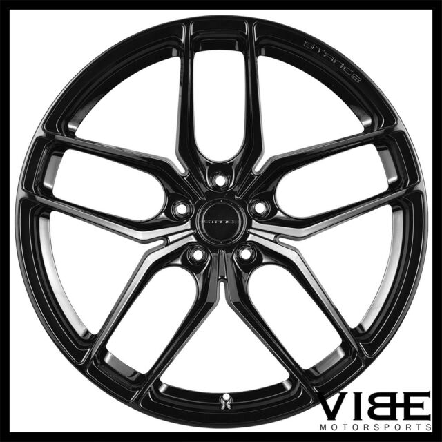 19 Stance Sf03 Gloss Black Forged Concave Wheels Rims Fits Tesla