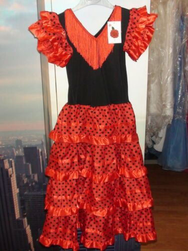 SPANISH DRESSES TRADITIONAL FLAMENCO DANCING STYLE CHEAP FROM SPAIN