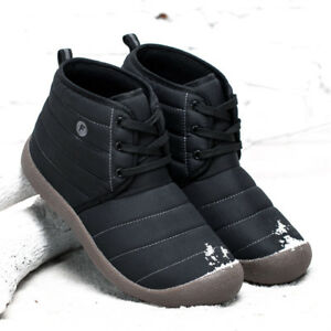 Winter-Men-039-s-Warm-Casual-Waterproof-Snow-Boots-Cotton-Inside-Shoes-Large-Size