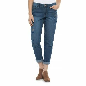 Bandolino womens  caroline slim straight jeans cream color size 18 NWT