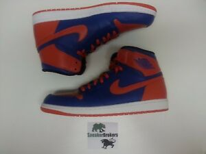 810ac06afc1877 Air Jordan 1 Retro High OG Knicks Royal Blue Orange. Size 15. 555088 ...