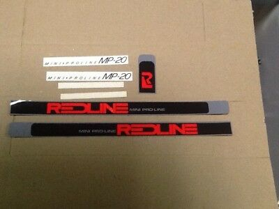 old school bmx decals stickers redline proline crank black chrome