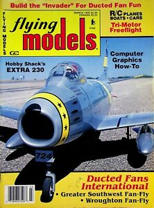 Vintage Flying Models Magazine March 1990 Computer Graphics How To m261