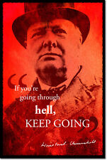 WINSTON CHURCHILL ART PHOTO PRINT POSTER GIFT HELL QUOTE