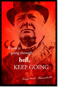 WINSTON-CHURCHILL-ART-PHOTO-PRINT-POSTER-GIFT-HELL-QUOTE