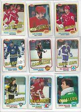 1981-82 Topps Hockey you pick 10 picks $2.00 EX to Mint