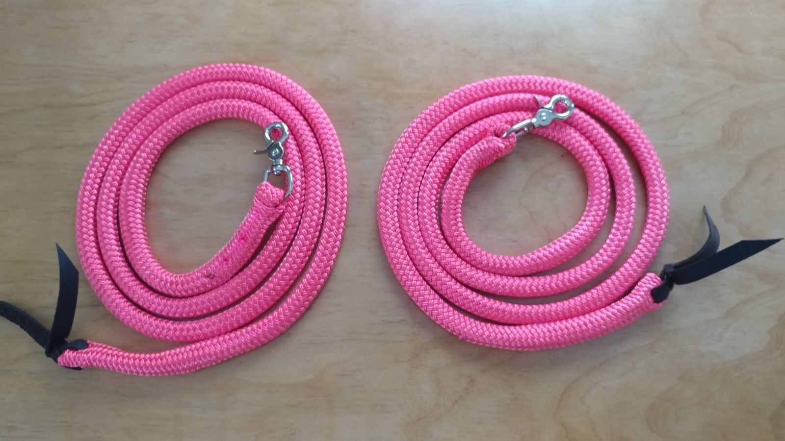 7'  YACHT ROPE SPLIT REINS, MANY AVAILABLE COLORS