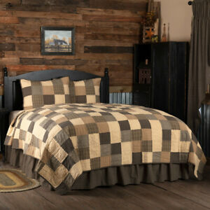 3 Piece Kettle Grove King Quilt Set Farmhouse Combo W Patchwork Shams Vhc Ebay