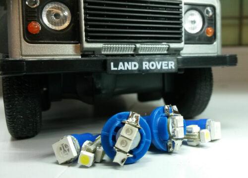 Bleu lumineux led smd Dash Instrument Speedo Land Rover Defender 90//110 raffinée Kit