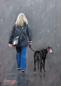 Limited-edition-signed-039-Giclee-039-print-direct-from-Steve-Sanderson-Greyhound-Art