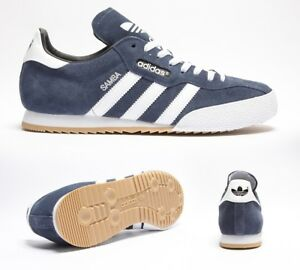 27ca87372accc5 Image is loading Mens-Adidas-Samba-Super-Suede-Navy-Run-White-