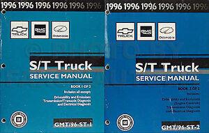 1996 st truck shop manual chevy s10 pickup blazer gmc sonoma jimmy rh ebay com 1999 GMC Jimmy 2000 GMC Jimmy