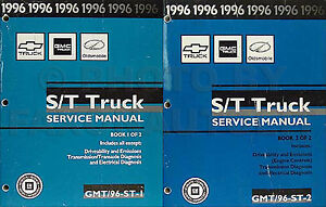 1996 st truck shop manual chevy s10 pickup blazer gmc sonoma jimmy rh ebay com 1992 GMC Jimmy 1995 gmc jimmy owners manual