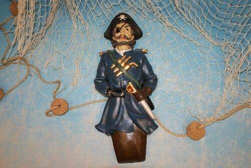 Galionsfigur Hook Pirat maritime Deko Polystone Schiff Boot Figur ca 40cm