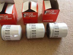 NOS-FRAM-PH4722-oil-filter-X3-vauxhall-saab-chevrolet-etc