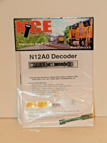 U25B SD24 NEW NCE #120 N12A0 DCC Decoder for Atlas N GP40-2 C40-8W B23-7