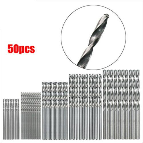 50Pcs HSS High Speed Steel Diamond Drill Bit Set Tool Coated Twist Drill Pq