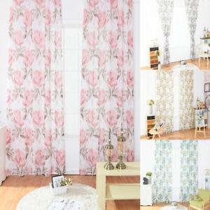 Image Is Loading ES Modern Floral Curtain Bedroom Window Panel Divider