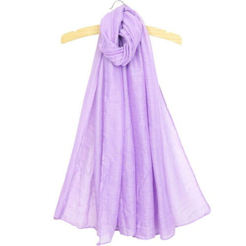 Women Candy Colors Long Soft Cotton Scarf Wrap Shawl Muslim Scarves Fashion New