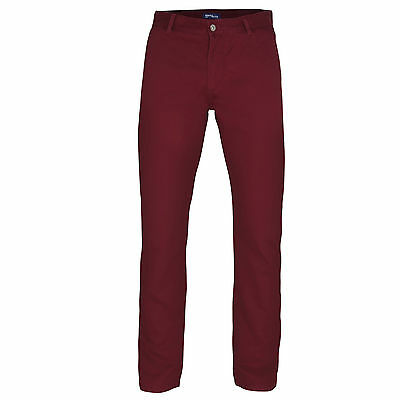 Mens Chino Jeans Pants Trousers Straight Leg Regular Fit Cotton 14 Colours