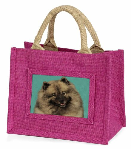 AD-KEE1BMP Keeshond Dog Little Girls Small Pink Shopping Bag Christmas Gift